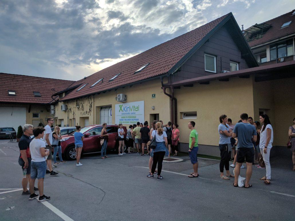 Otvoritev centra v Ljubljani