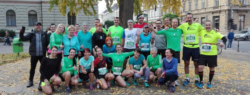 KinVital tekaška skupina na ljubljanskem maratonu