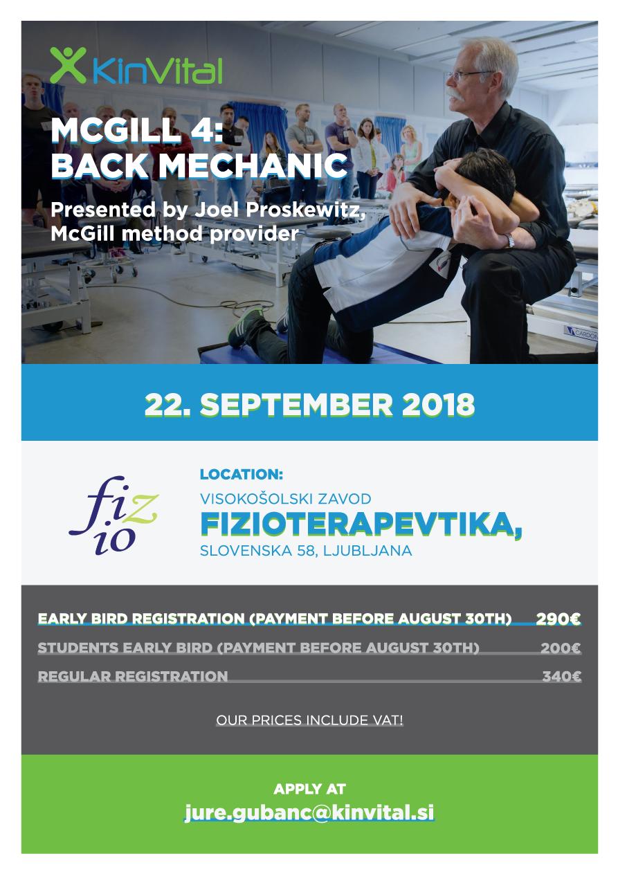 McGill Provider Joel Proskewitz is holdin a one day seminar in Ljubljana Slovenia