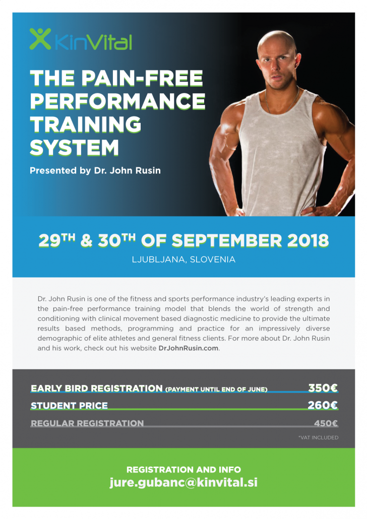 John Rusin is presenting a 2-day seminar in Ljubljana, Slovenia at 29th & 30th of September