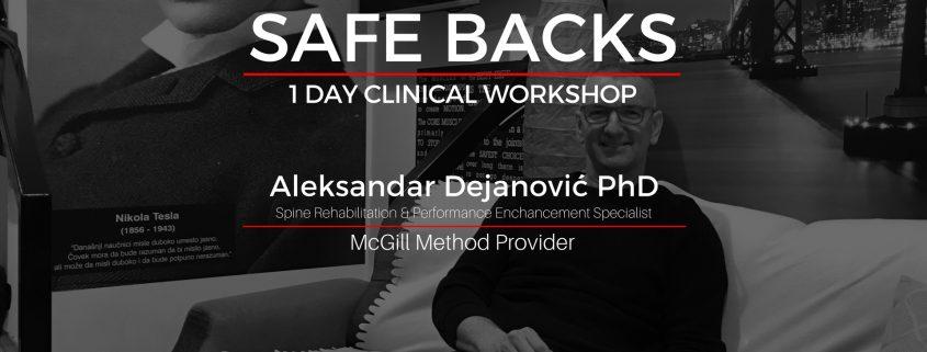 Safe Backs clinical workshop