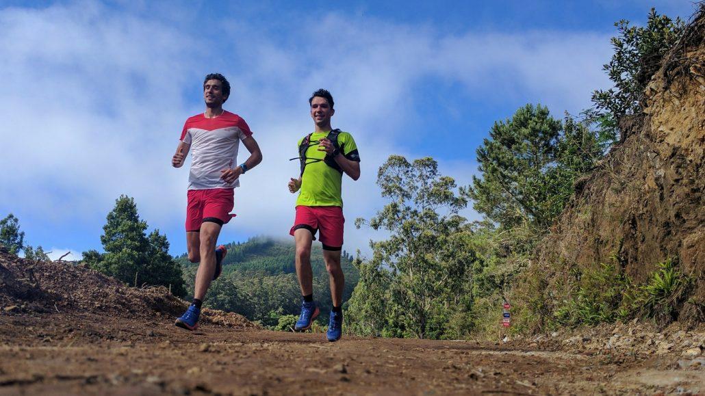 Tekača tečeta po gozdnih poteh ultramaratonske preizkušnje.