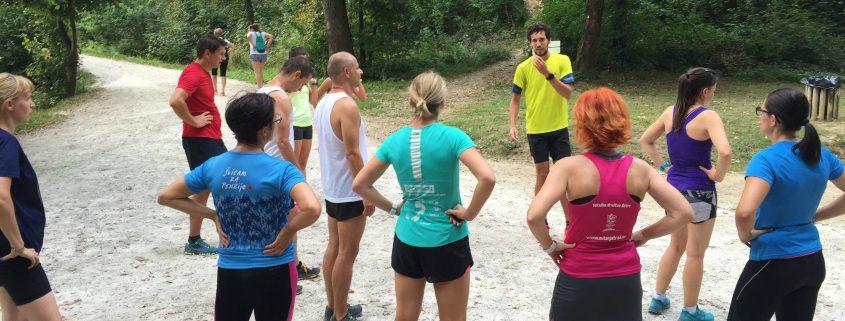 KinVital tekaška skupina na enem izmed vikend skupinskih tekov.