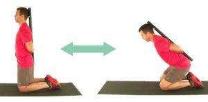 Prikaz gibanja v bokih preko kolčnih sklepov in ne z gibanjem v hrbtenici.